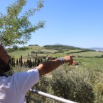 Manuele showing us the Val d'Orcia!