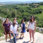 Walking to the springs at Bagno Vignoni