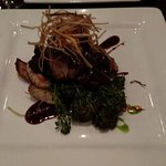 """This is the Hereford Tenderloin, it tastes as good as it looks, my wife's """"Side Salad"""" in the ba"""