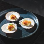 Hervey Bay scallop, pearl tapioca and Yarra Valley salmon caviar