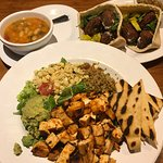 Awesome Food - Summer Salad, Falafel Wrap and Veggie Soup