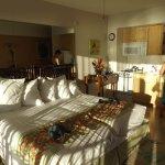 One very sunny bedroom.