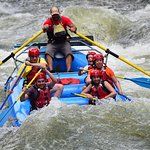 We rafted through several rapids