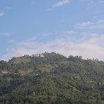 Sarangkot as seen from the Castle Resort