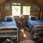 Loft bedroom in Cowboy Cabin