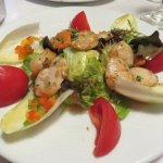 Scallop salad was delicious