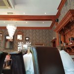 I did enjoy my lunch. Great food and love the chandeliers in this area.
