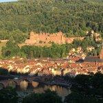 Sicht vom Philosophenweg auf Altstadt und Schloss