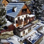 drone view of the chalet