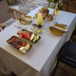 Desayuno con productos locales