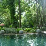 Panoramic of the pool area.