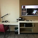 A place to work, the coffee machine and minibar