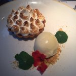 Rhubarb tart & vanilla pop ice-cream (course 5)