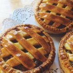 Latticed Apple pie.