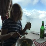 A restaurant with a view on top of the Hohe salve