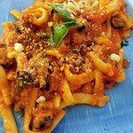 Tomato and eggplant pasta