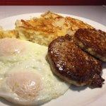 Sausage Patty and Eggs