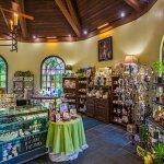 Inside our gift shop gatehouse.