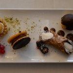 Various delicious petit fours