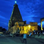 Brihadeeswarar Temple at night
