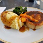 Steak and ale Pie with Mustard Mash
