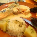 pavé de saumon sauce loupiac