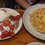 Strawberry pancakes.