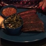 Ribs, collards and beans