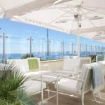 Seaview terrace with stunning views looking out.