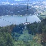 Ossiacher lake from the mountain Gerlitzen