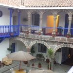 View front the 2nd floor to the courtyard