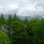 Loch Awe and Ben Cruachan from the cabin balcony