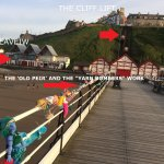 """The Seaview's location right near the peir with the work of the """"Yarn-bombers"""""""