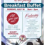 Roosters is hosting a Breakfast Buffet after party for Maroon 5! Sunday, July 16!