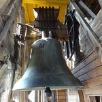 The giant bell at the top of the tower