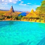 Refreshing river-pool at the Hacienda