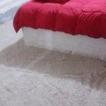 piso do quarto, de sal