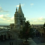 The Fishermans Bastion viewed fromour room on the 1st floor