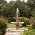 Fuente en los jardínes