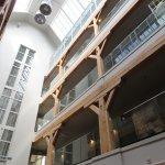 Central atrium in hotel