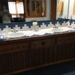Lovely two toned tiled vanity counter