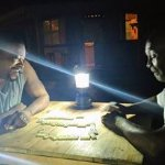 Dominoes!! the ceiling light burnt out but we just LOVED the campfire lighting instead!!