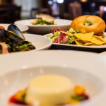 A selection from our food menu from Scottish mussels to fresh toasted bagel