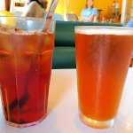 unsweet tea and beer