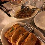 mozzarella in carrozza and soft shell crabs, yummy!
