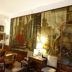 Tapestry in living quarters