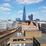 Train line and the shard