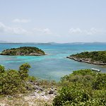 View from Bird Island. We snorkeled at the reef at the island in the picture