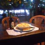 offerta especial del dia ; pasta con camarones