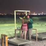 Clay pigeon shooting at shooters bar!
